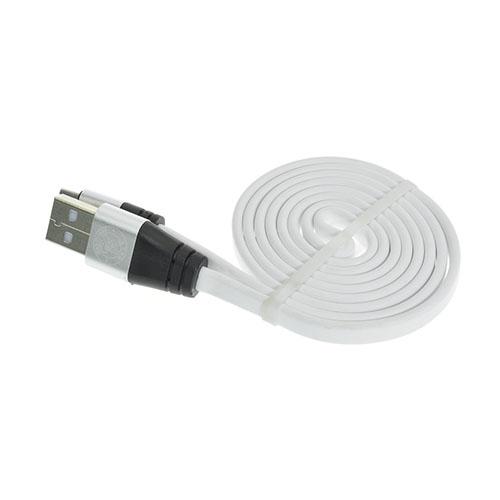 Bilde av 1m Flat Noodle Micro USB Kabel - Hvit