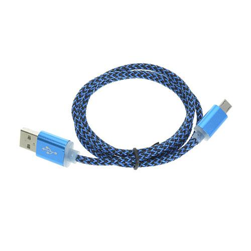 Bilde av 1m Hemp Micro USB Ladekabel, Sync kabel - Blå