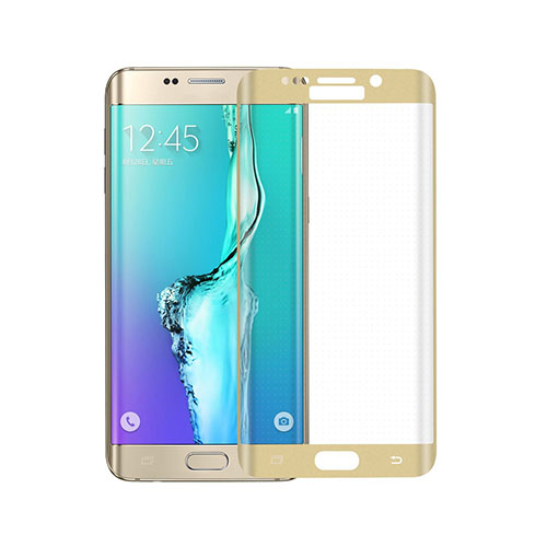 Bilde av 0.3mm herdet glass Buet Beskyttelses Film for Samsung Galaxy S6 edge Plus - gull