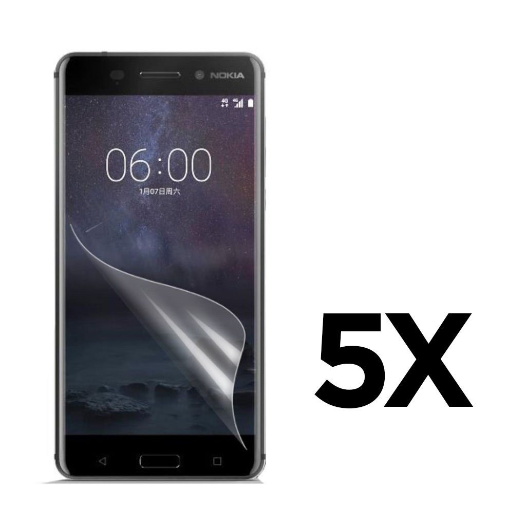 Bilde av 5-PACK Nokia 6 clear LCD screen protector