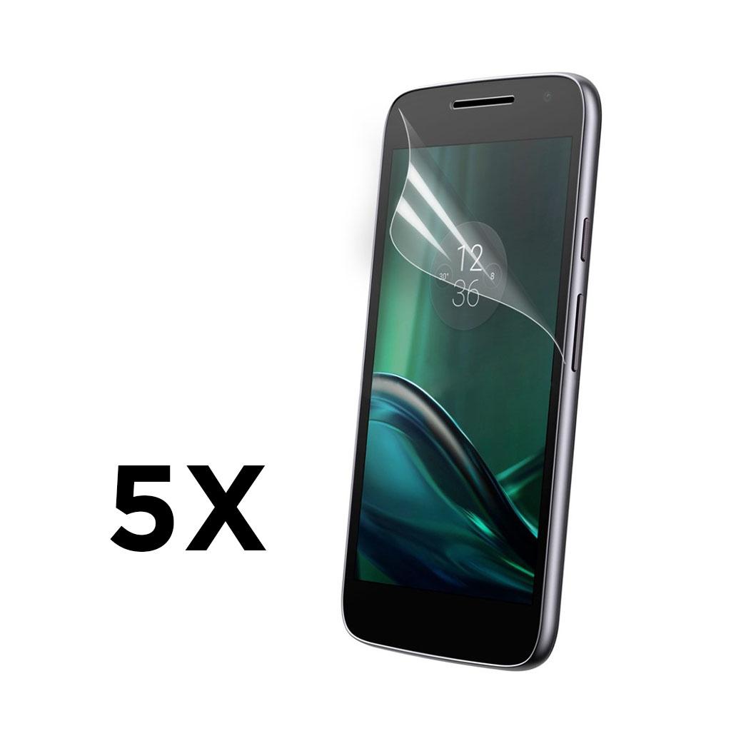 Bilde av 5-pk Ultra-klar LCD skjermbeskytter for Moto G4 Play