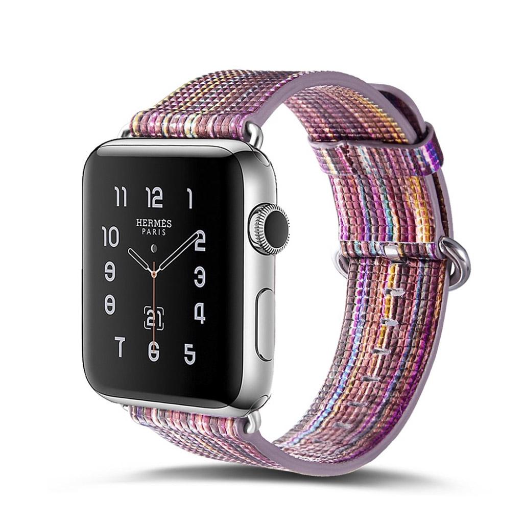 Bilde av Apple Erstatnings Klokkebånd 42 Mm Laget Av Ekte Lær - H Stil