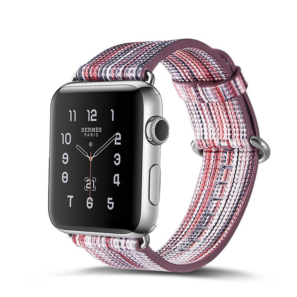 Bilde av Apple Erstatnings Klokkebånd 42 Mm Laget Av Ekte Lær - E Stil