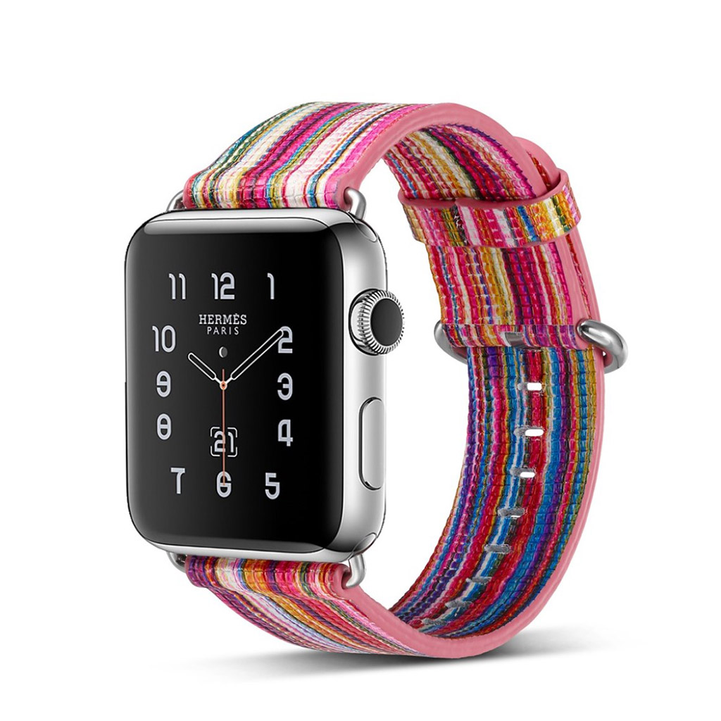 Bilde av Apple Erstatnings Klokkebånd 42 Mm Laget Av Ekte Lær - D Stil