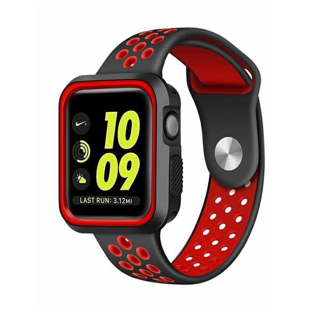 Bilde av Apple Klokkearmbånd 38 Mm Laget Av Silikon - Rød