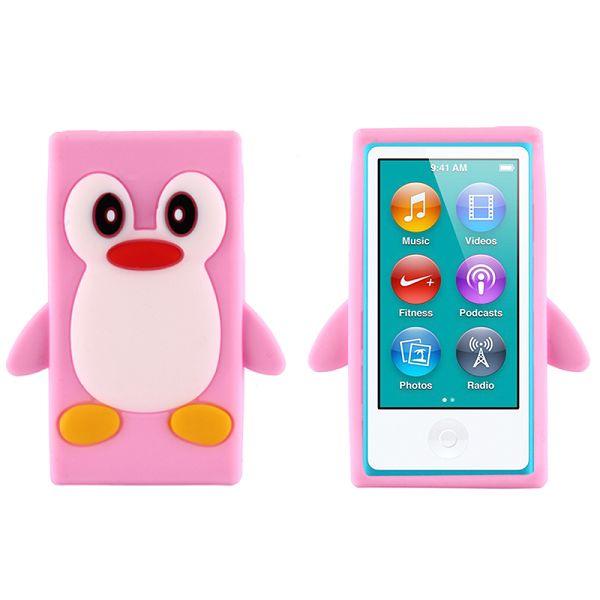 Bilde av Happy Penguin (lyserosa) Ipod Nano 7 Deksel