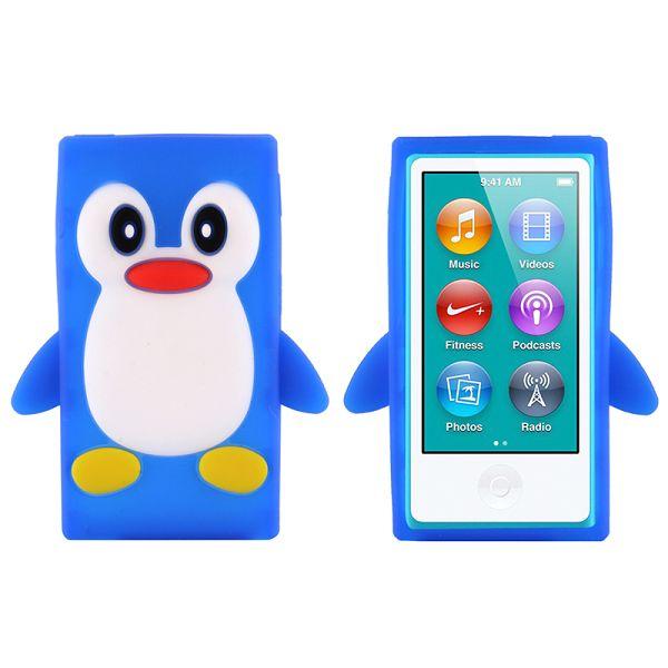 Bilde av Happy Penguin (blå) Ipod Nano 7 Deksel
