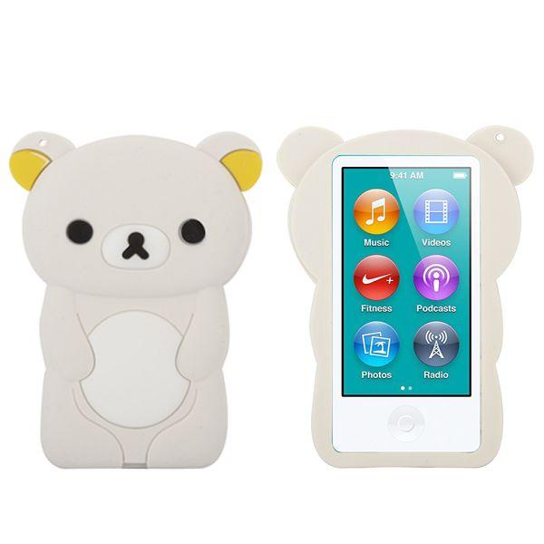 Bilde av Happy Bear (hvit) Ipod Nano 7 Deksel