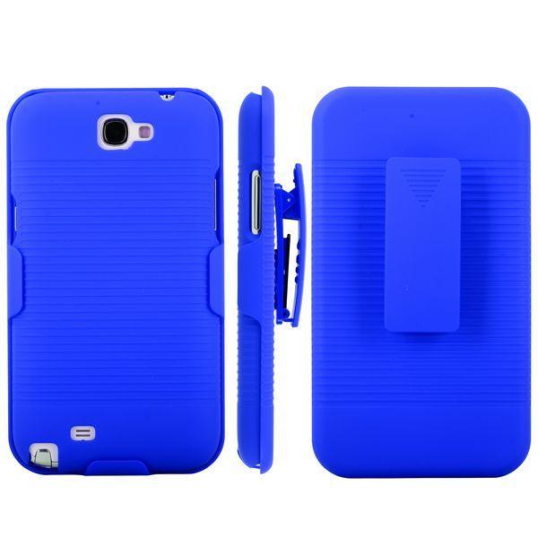 BeltClip KickStand (Blå) Samsung Galaxy Note 2 Deksel