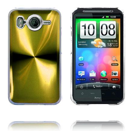 Bilde av Aluminium Blade - Gjennomsiktig Kant (Gull) HTC Desire HD Deksel