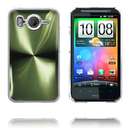 Bilde av Aluminium Blade - Gjennomsiktig Kant (Grønn) HTC Desire HD Deksel