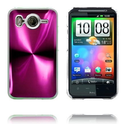 Bilde av Aluminium Blade - Gjennomsiktig Kant (Rosa) HTC Desire HD Deksel