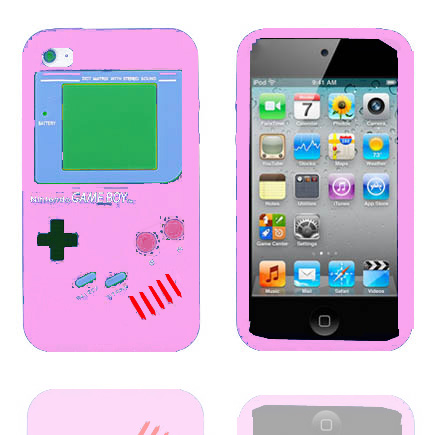 Bilde av Gameboy (lyserosa) Ipod Touch 4 Deksel