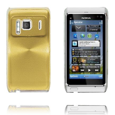 Bilde av Aluminium Shield Transparent Kant (Gull) Nokia N8 Deksel
