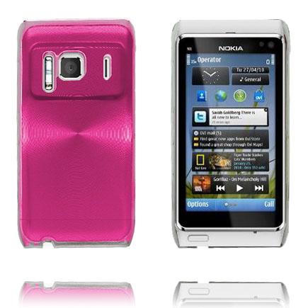 Bilde av Aluminium Shield Transparent Kant (Rosa) Nokia N8 Deksel