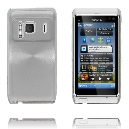 Bilde av Aluminium Shield Transparent Kant (Sølv) Nokia N8 Deksel