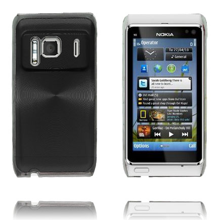 Bilde av Aluminium Shield Transparent Kant (Sort) Nokia N8 Deksel