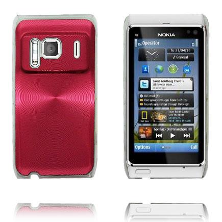 Bilde av Aluminium Shield Transparent Kant (Rød) Nokia N8 Deksel