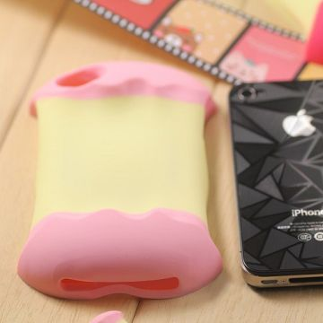 Bilde av 3D Apple (Lyserosa) iPhone 4/4S Deksel