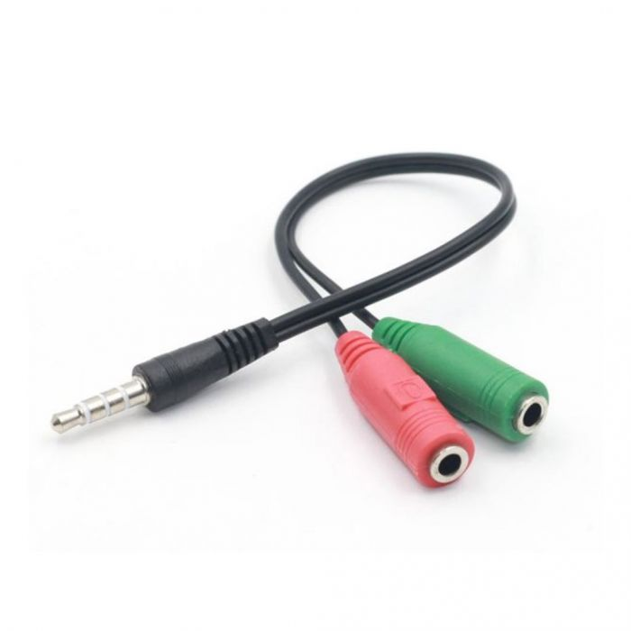 Universal 3.5mm Male to Female audio Y splitter cable adapter