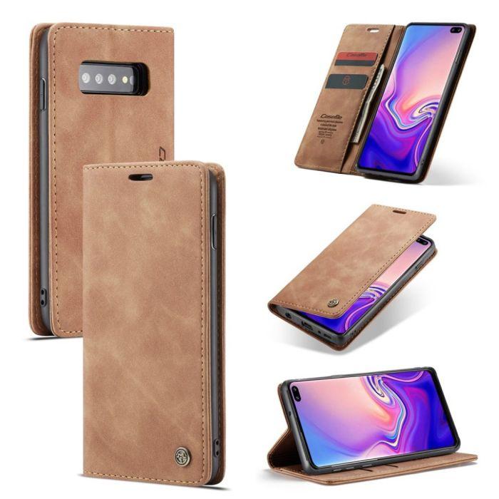 Kjøp CaseMe Flip Veske til Samsung Galaxy S10 Plus Brun