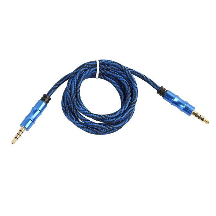 Stereo 3.5mm AUX Kabel med Belagte Kontakter 1m