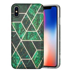 Marble iPhone Xs Max Etui - Grønn