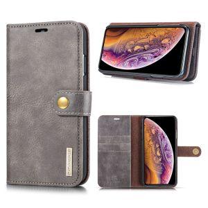 DG.Ming iPhone Xs Max 2-in-1 Lommebok Etui - Grå