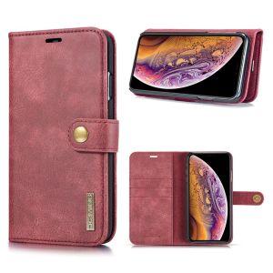 DG.Ming iPhone Xs Max 2-in-1 Lommebok Etui - Rød