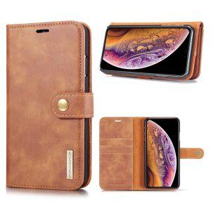 DG.Ming iPhone Xs Max 2-in-1 Lommebok Etui - Brun