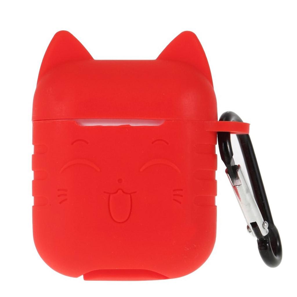 Bilde av Airpods Cat Pattern Silicone Case - Red