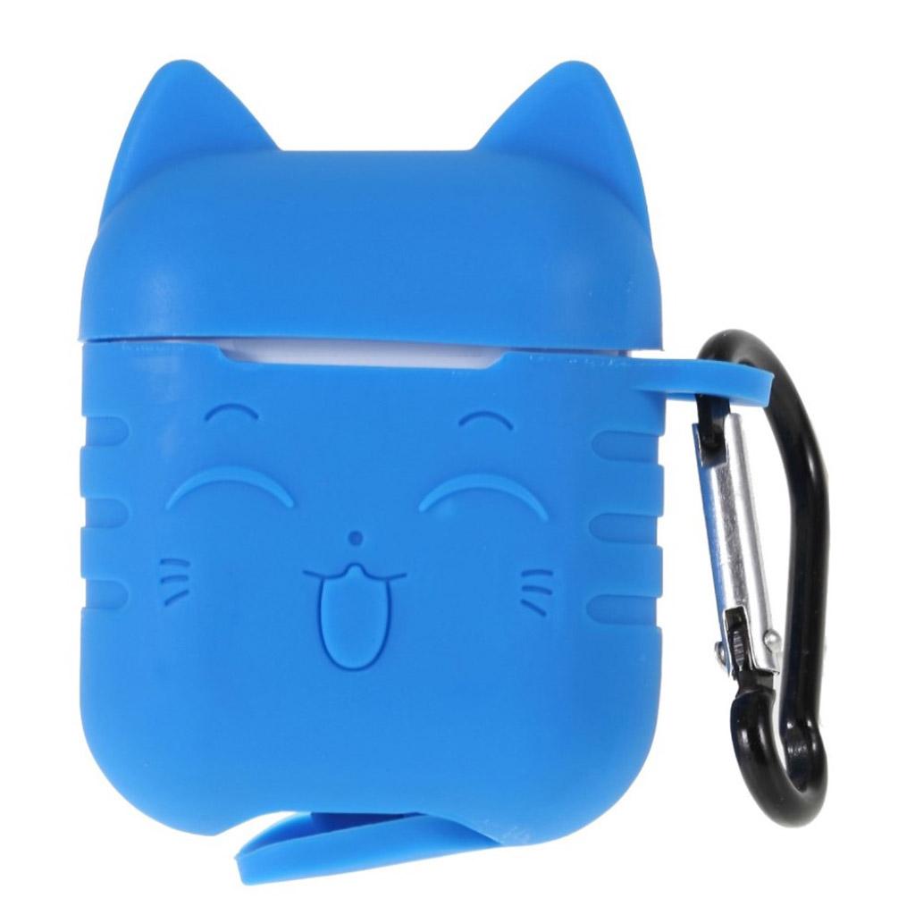 Bilde av Airpods Cat Pattern Silicone Case - Baby Blue
