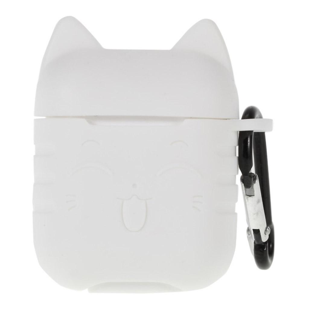 Bilde av Airpods Cat Pattern Silicone Case - Transparent