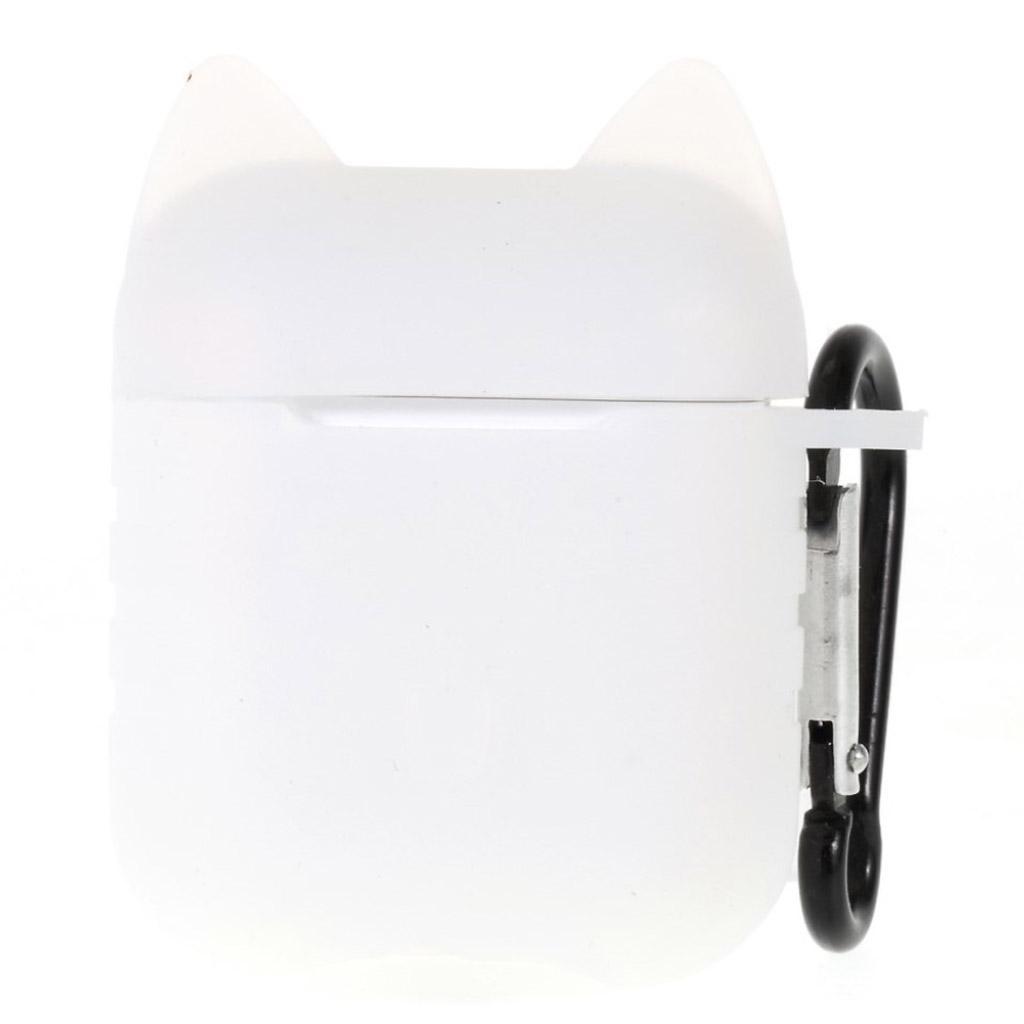 Bilde av Airpods Cat Pattern Silicone Case - White