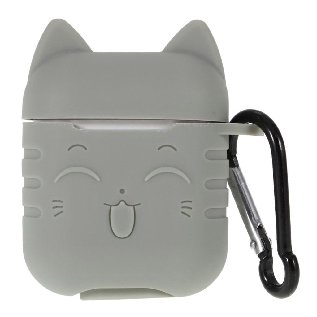 Bilde av Airpods Cat Pattern Silicone Case - Grey