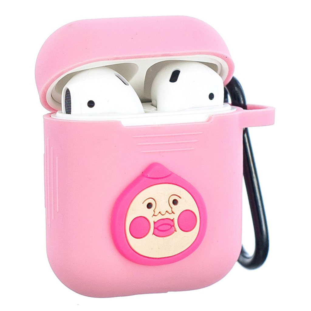 Bilde av Airpods Cartoon Pattern Silicone Case - Pink / Doll