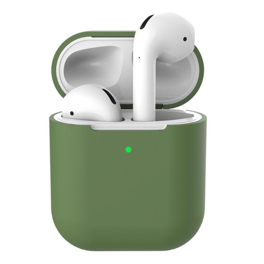 Bilde av Apple Airpods Silicone Charging Case - Dark Green