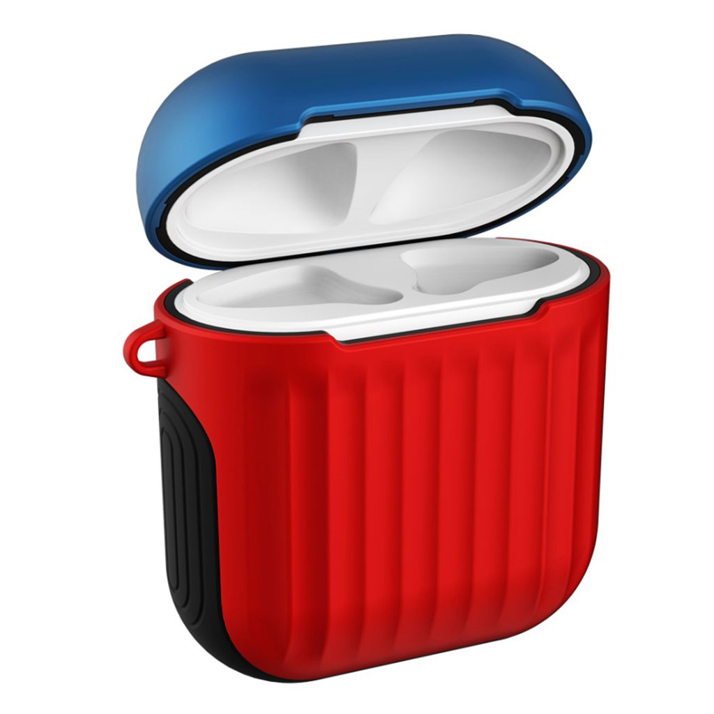 Bilde av Apple Airpods Suitcase Silicone Case - Blue / Red