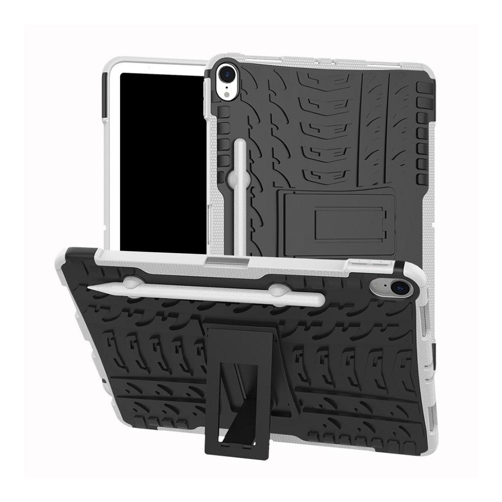 Bilde av Ipad Pro 11 Beskyttelses Deksel Av Plastikk Og Tpu Med Dekk Mønster - Hvit