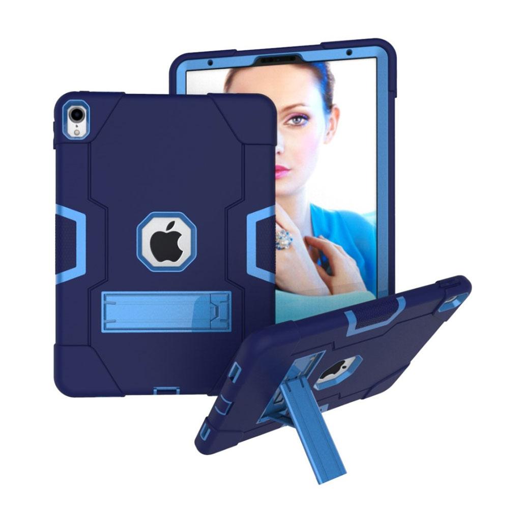 Bilde av Ipad Pro 11 Beskyttelses Deksel Av Hybrid Materiale Med To Fargers Design - Mørke Blå Og Baby Blå