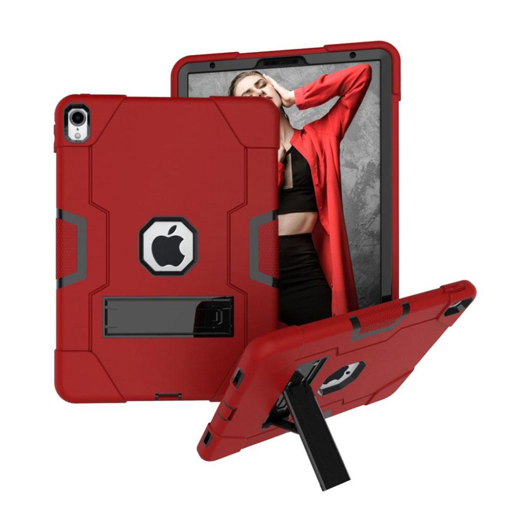 Bilde av Ipad Pro 11 Beskyttelses Deksel Av Hybrid Materiale Med To Fargers Design - Rød Og Svart