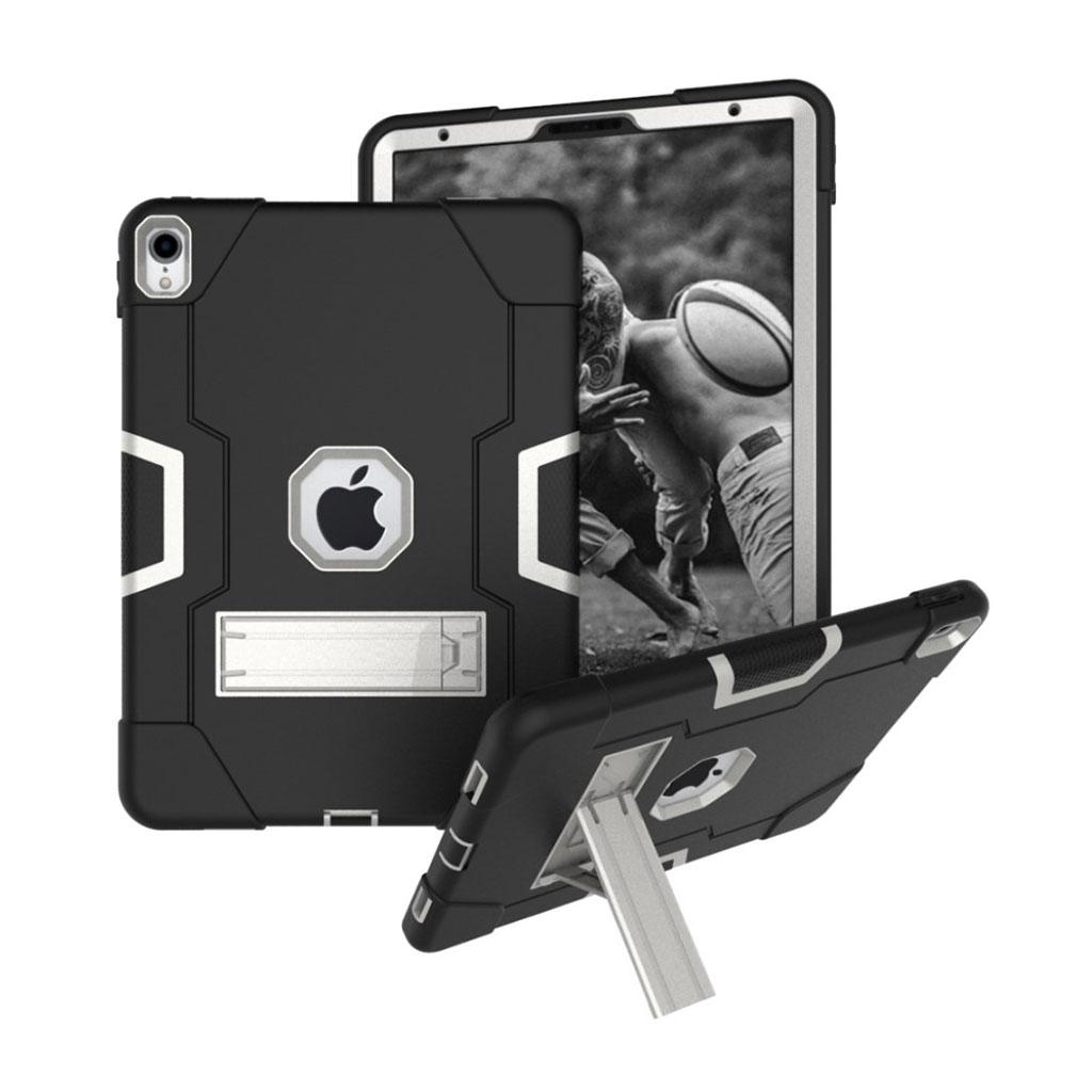 Bilde av Ipad Pro 11 Beskyttelses Deksel Av Hybrid Materiale Med To Fargers Design - Svart Og Sølv