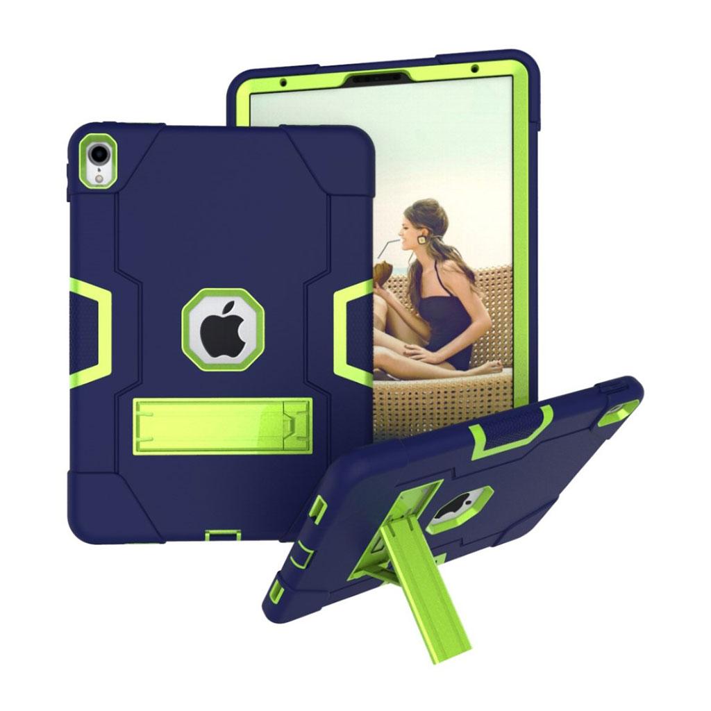 Bilde av Ipad Pro 11 Beskyttelses Deksel Av Hybrid Materiale Med To Fargers Design - Mørke Blå Og Grønn