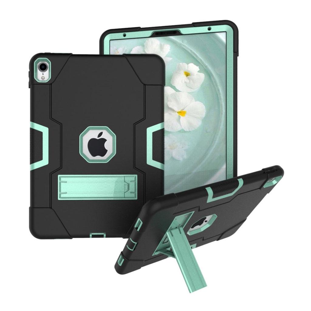Bilde av Ipad Pro 11 Beskyttelses Deksel Av Hybrid Materiale Med To Fargers Design - Svart Og Turkis