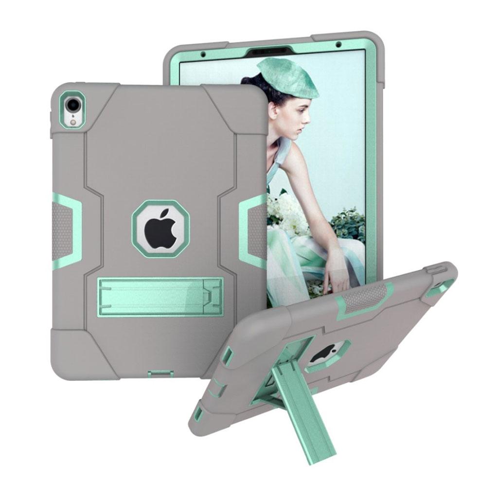 Bilde av Ipad Pro 11 Beskyttelses Deksel Av Hybrid Materiale Med To Fargers Design - Grå Og Turkis