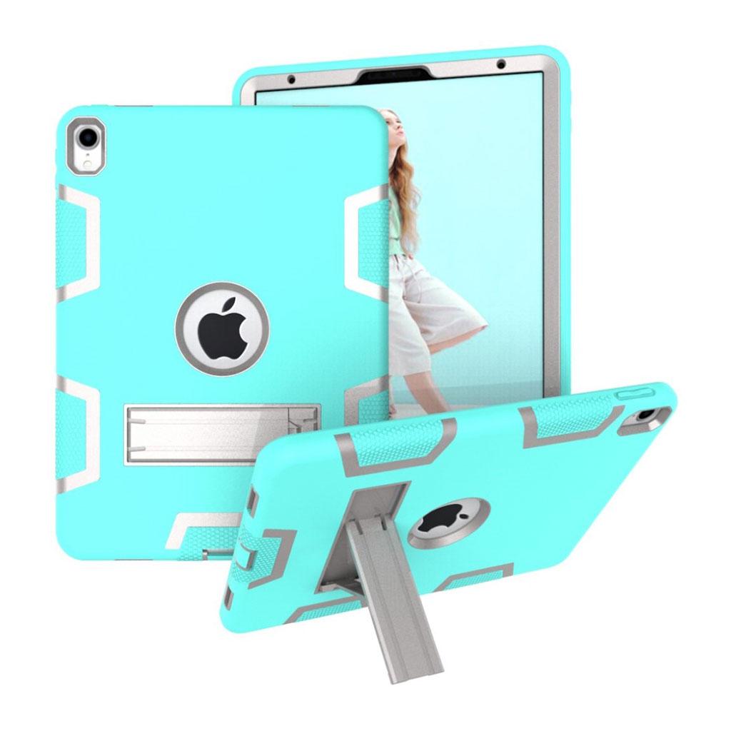Bilde av Ipad Pro 11 Beskyttelses Deksel Av Hybrid Materiale Med To Fargers Design - Turkis