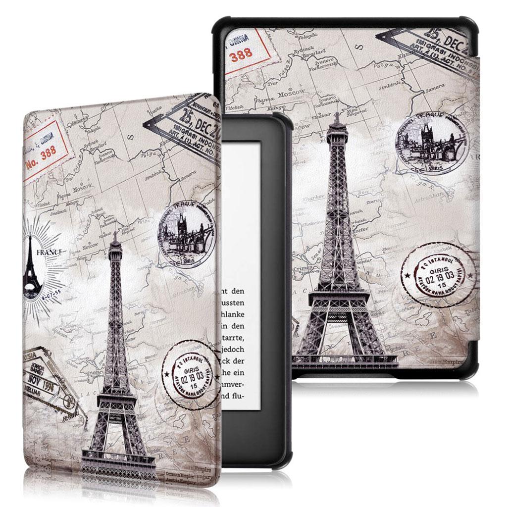 Bilde av Amazon Kindle (2019) Levende Mønster Læretui - Eiffeltårnet