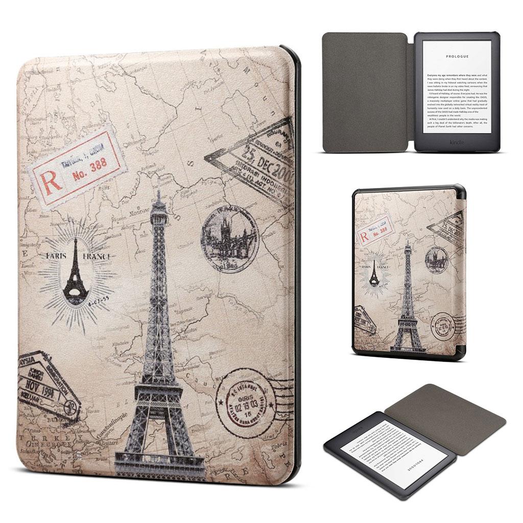 Bilde av Amazon Kindle (2019) Ganske Mønster Læretui - Eiffeltårnet