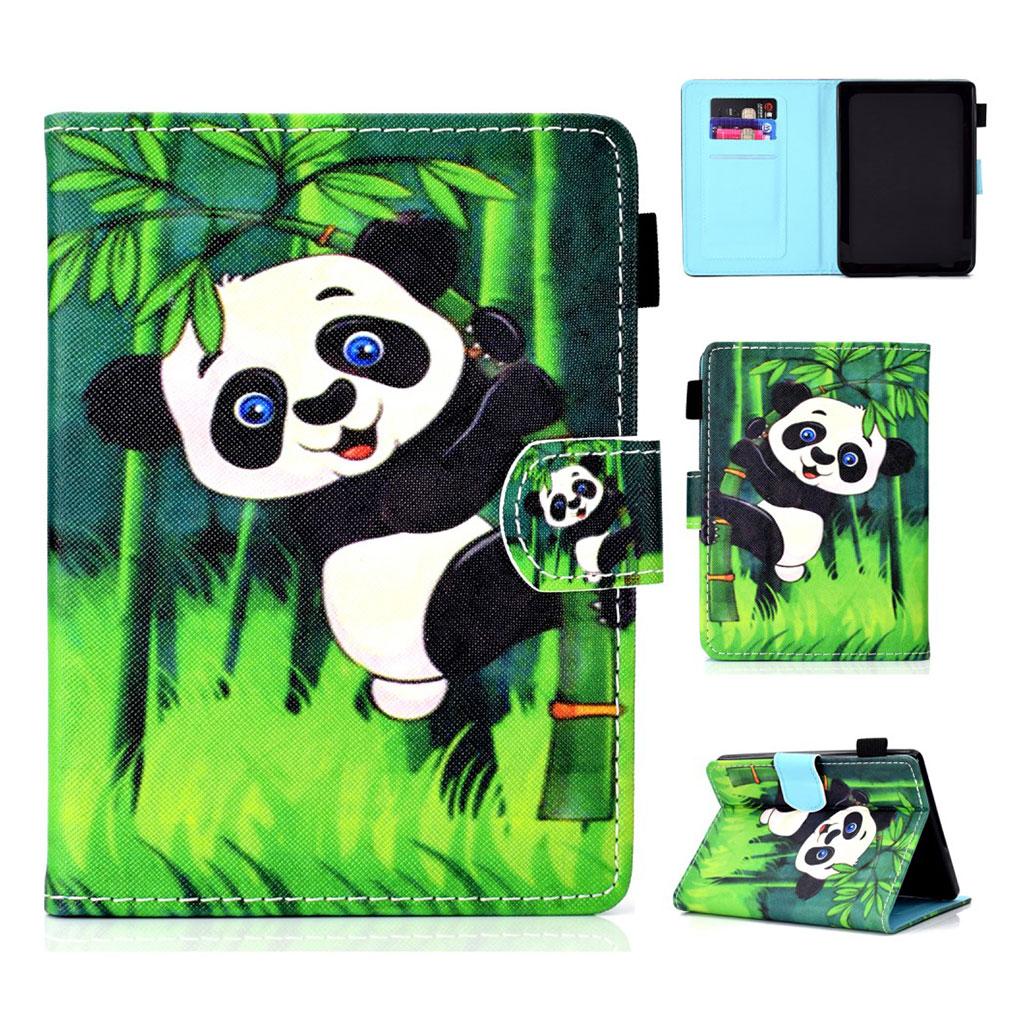 Bilde av Amazon Kindle (2019) Mønstret Læretui - Bambus Panda