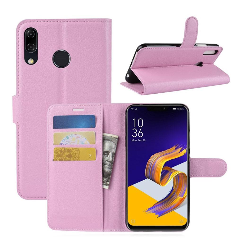 Bilde av Asus Zenfone 5 Beskyttelses Deksel Av Syntetisk Skinn Med Litchi Tekstur - Rosa